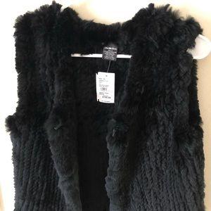 Saks Fifth Avenue rabbit fur vest.